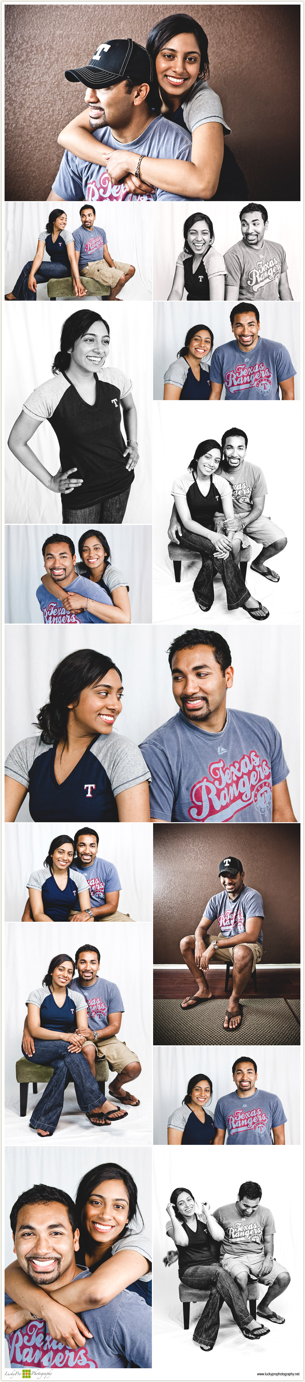 Betty & Anoop's Studio Portraits