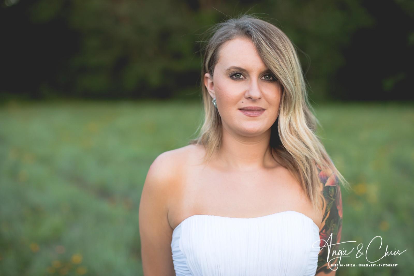 Aubrie Oakley Wildflower Field Bridal Portraits